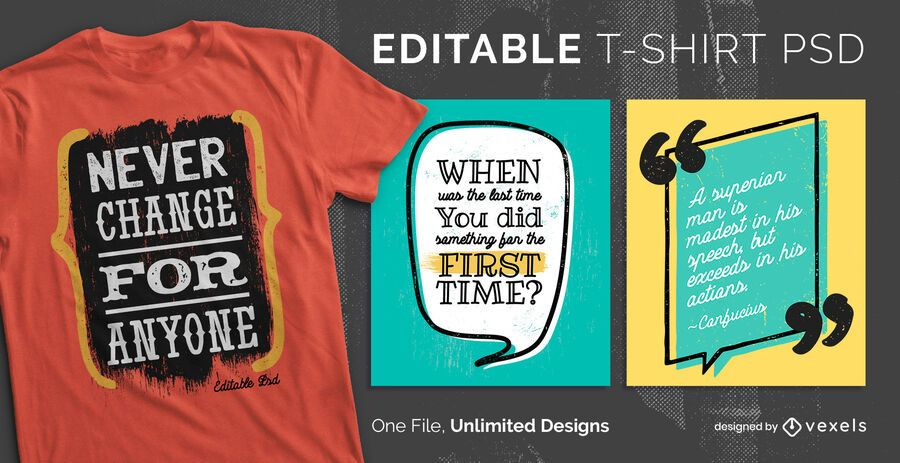 Quotes scalable t-shirt psd