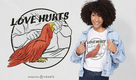 Diseño de camiseta Love Hurts