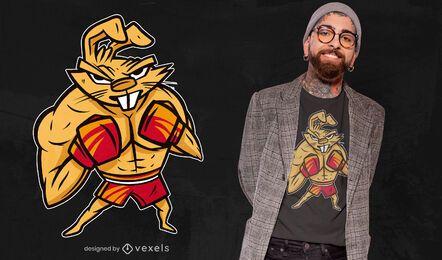 Design de t-shirt de coelho boxer