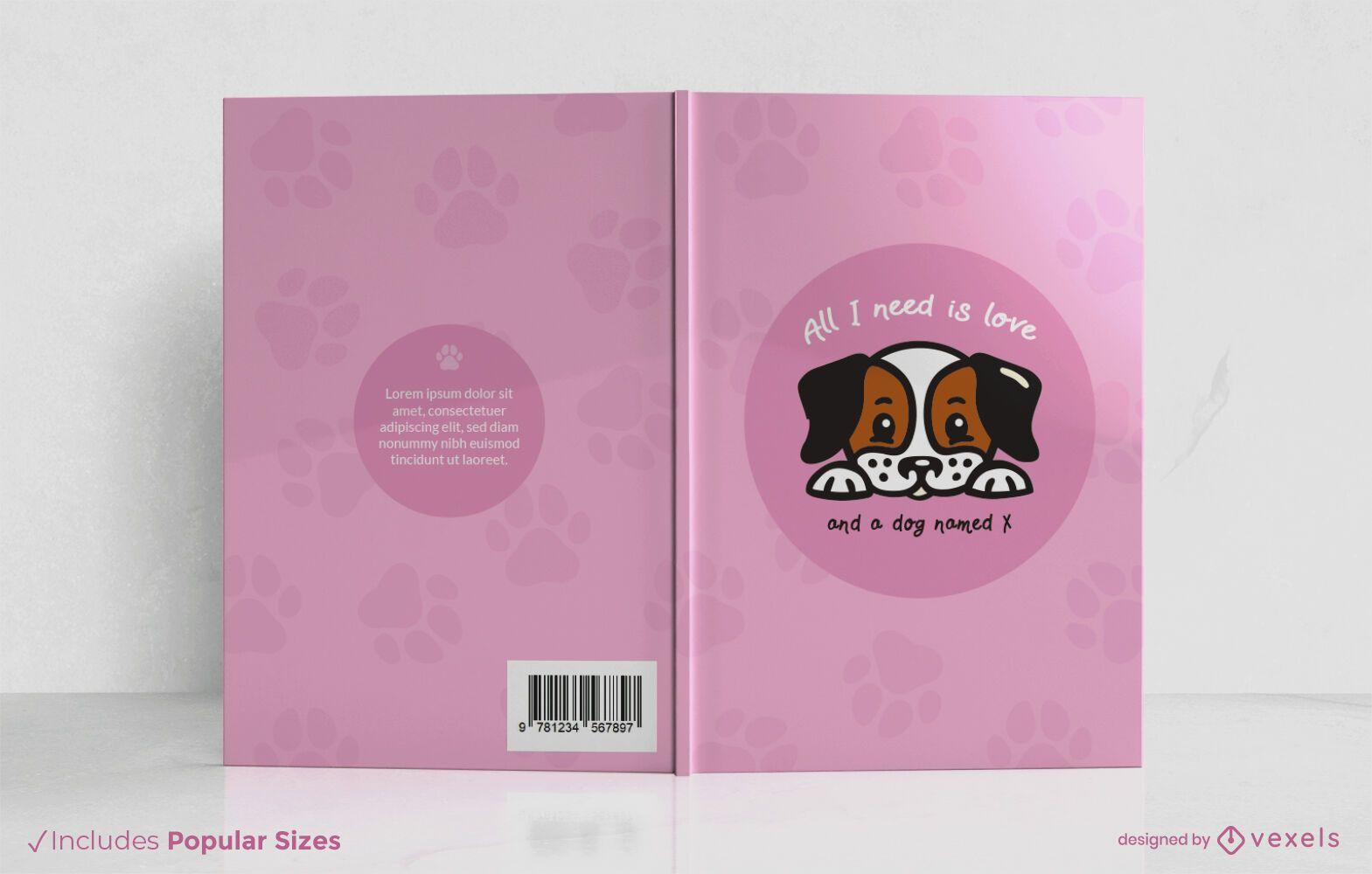 Todo lo que necesito es diseño de portada de libro de amor