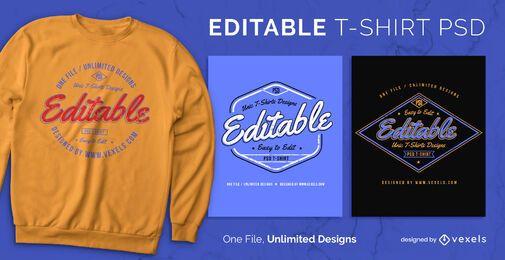 Badge scalable t-shirt psd