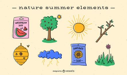 Summer elements flat pack