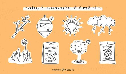 Trazo de elementos de verano