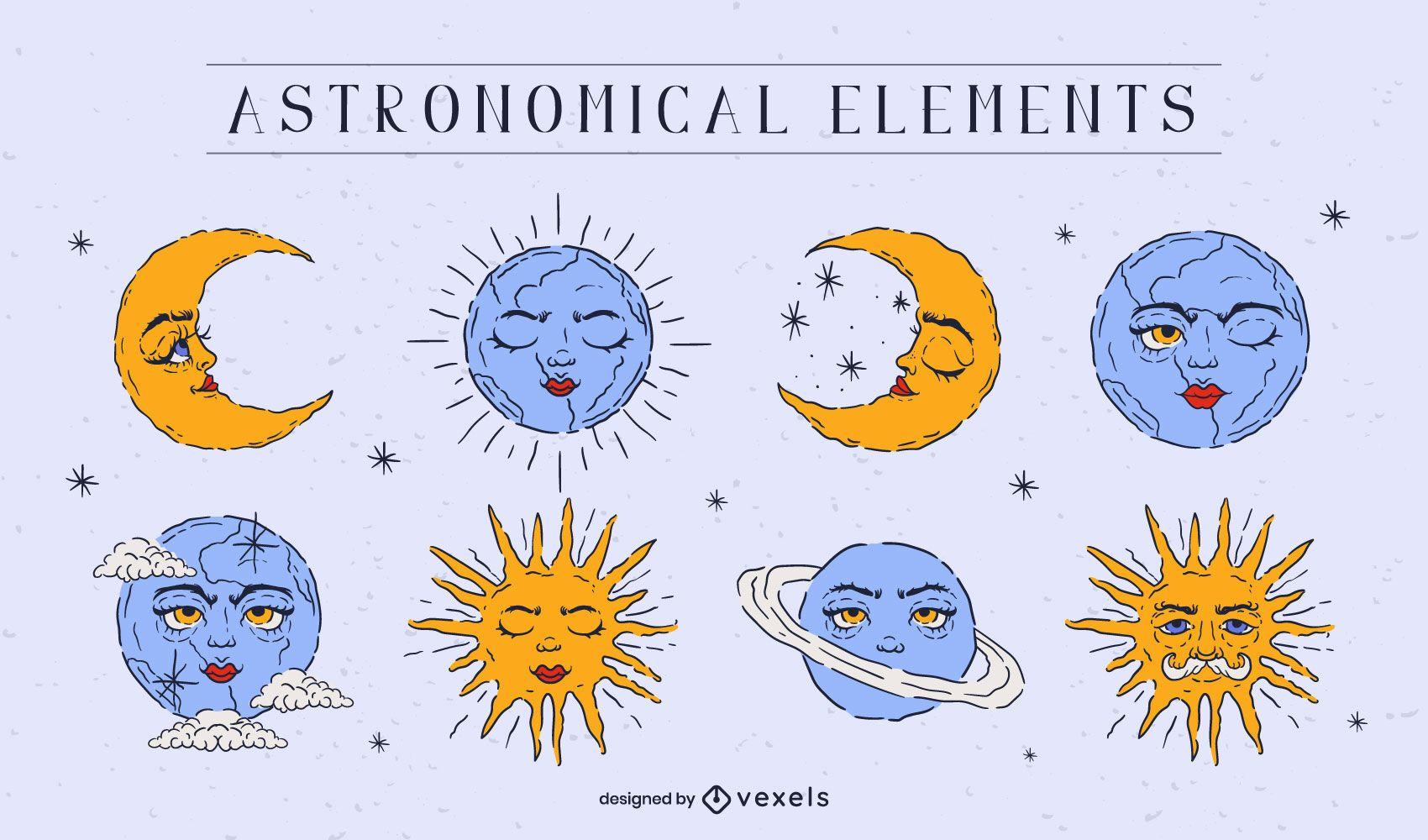 Astronomical elements set