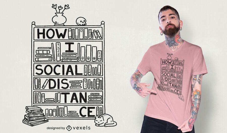Como faço o design de camisetas para distancias sociais