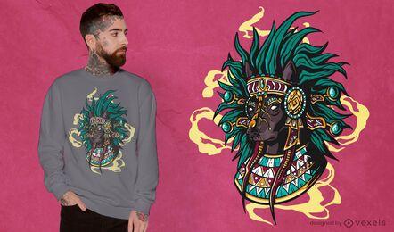 Aztec dog t-shirt design