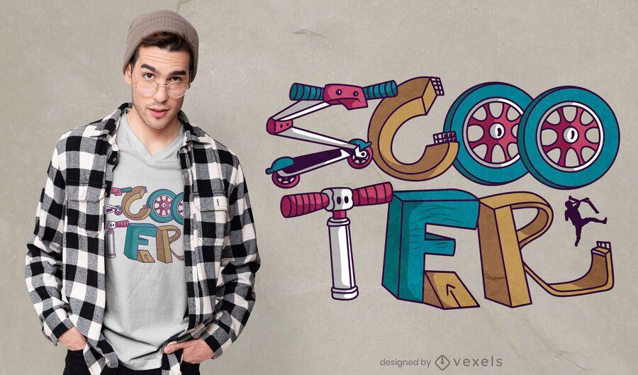 Fun scooter t-shirt design