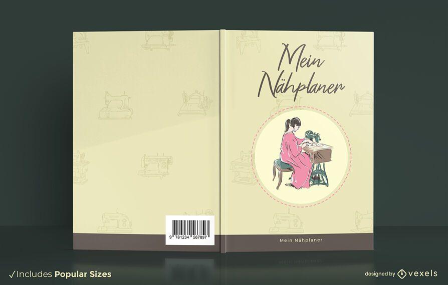 Meu design de capa de livro de planejador de costura