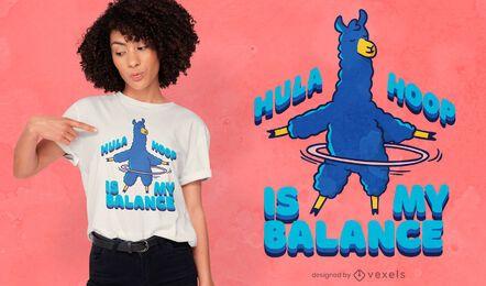 Diseño de camiseta de alpaca hula hoop