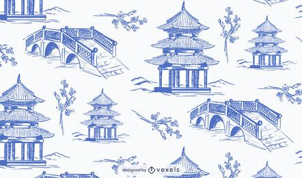 Chinese garden pattern design