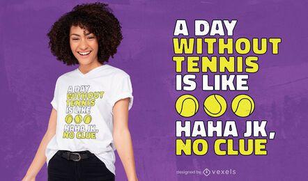 Sin diseño de camiseta de tenis