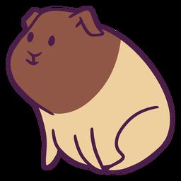 Lindo conejillo de indias plano
