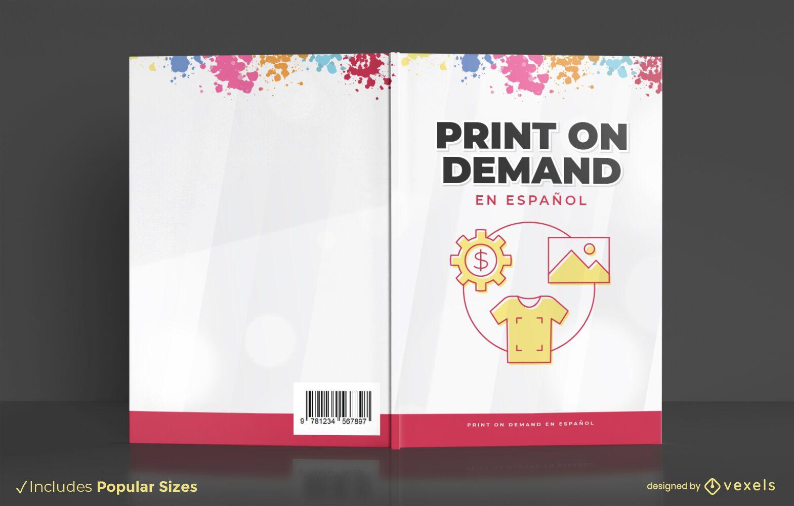Impressão sob demanda do design da capa do livro
