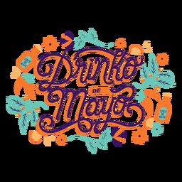 Cinco de mayo colorful lettering