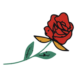 Red rose color-stroke