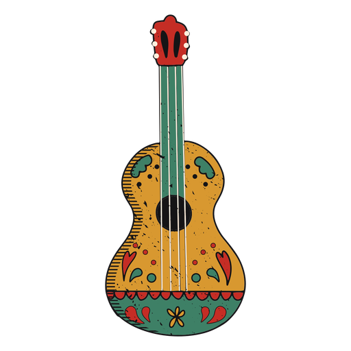Painted guitar color-stroke