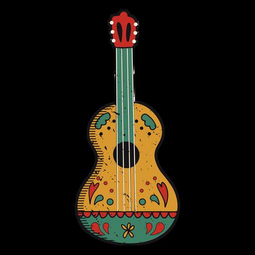 Trazo de color de guitarra pintado