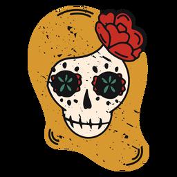 Female sugar skull color-stroke