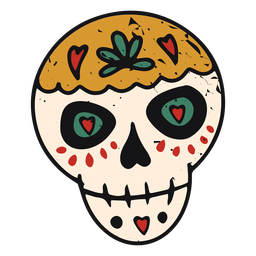 Color-stroke sugar skull