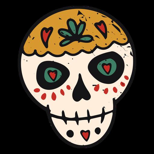 Color-stroke sugar skull Transparent PNG