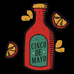Botella de tequila cinco de mayo