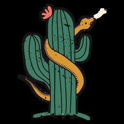 Desert cactus color-stroke