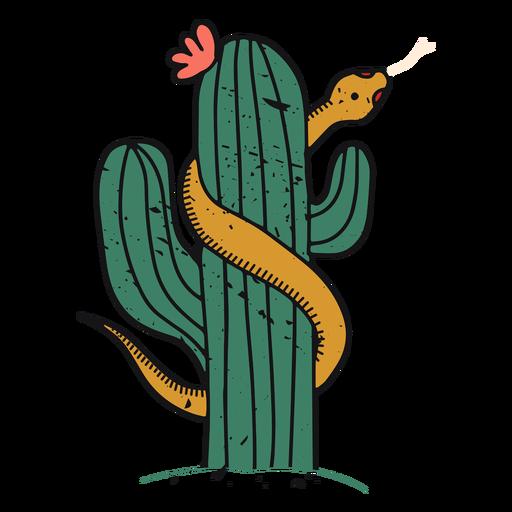 Desert cactus color-stroke Transparent PNG
