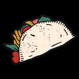 Trazo de color de taco mexicano