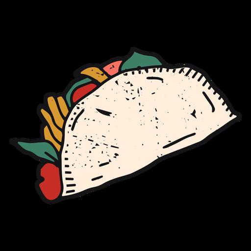 Mexican taco color-stroke