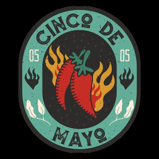 Insignia picante del Cinco de Mayo