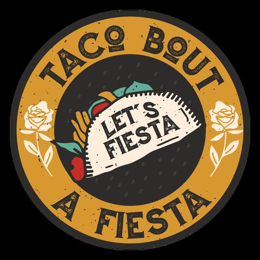 Insignia de taco fiesta Transparent PNG