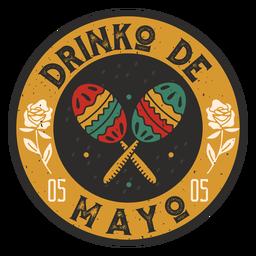 Insignia de bebida del cinco de mayo