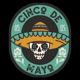 Insignia de calavera del Cinco de Mayo