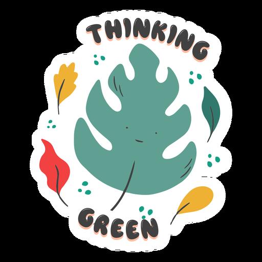 Thinking green badge