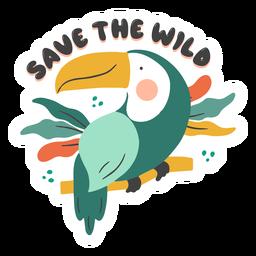 Save the wild badge