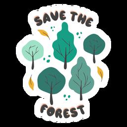 Salva la insignia del bosque