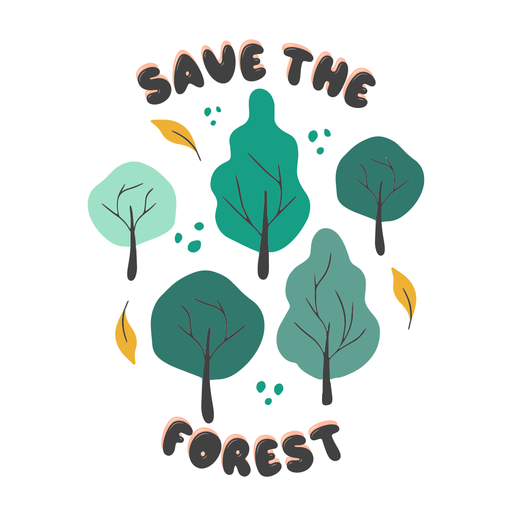 Save the forest badge
