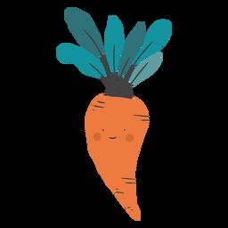 Lindo plano de zanahoria