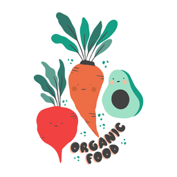 Organic food badge