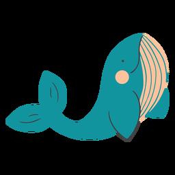 Sonriendo ballena plana