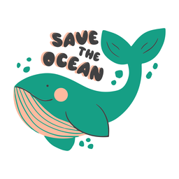 Save the ocean badge