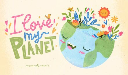 Liebe meine Planetenillustration