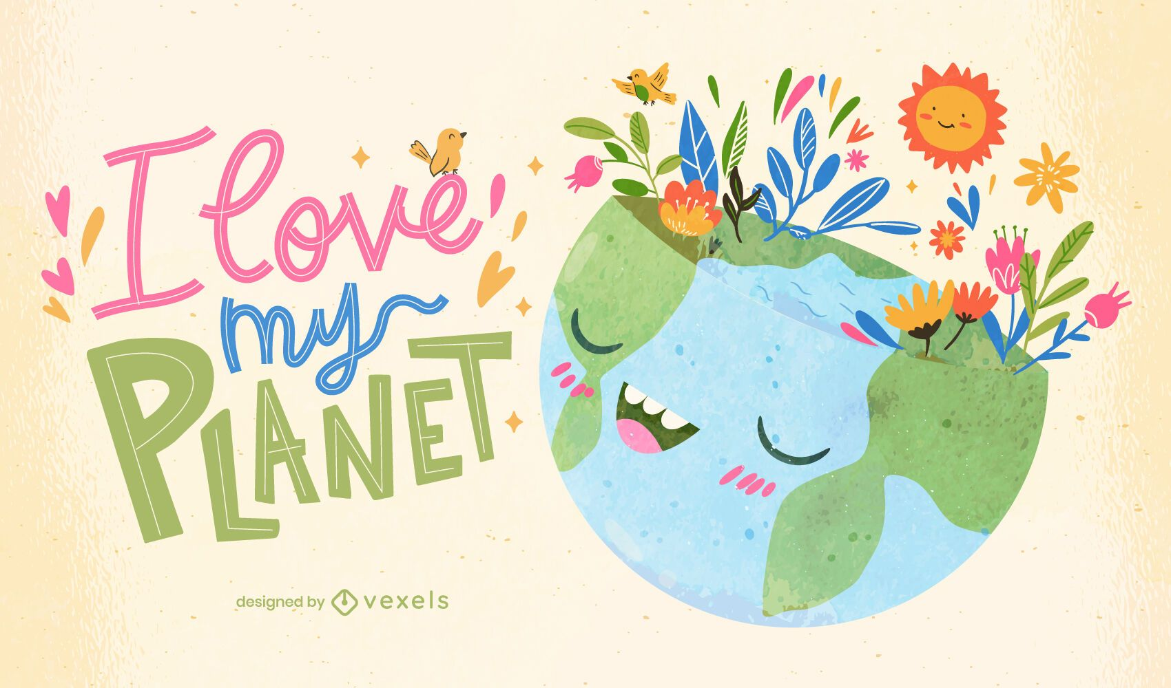 Love my planet illustration