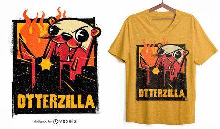 Diseño de camiseta Otterzilla