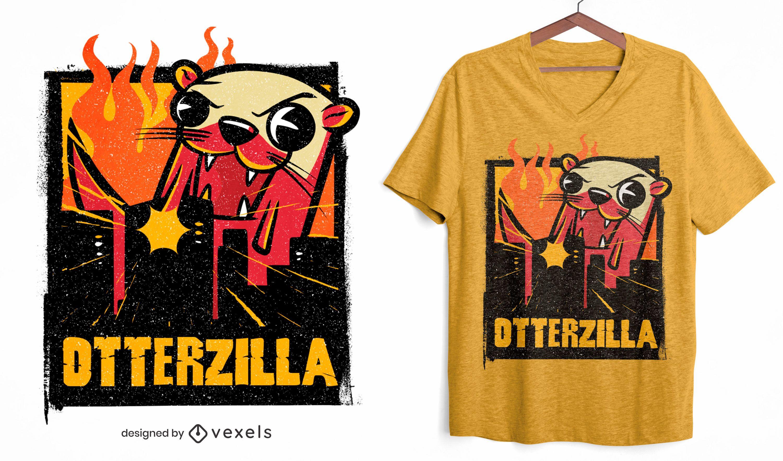 Design de camiseta Otterzilla