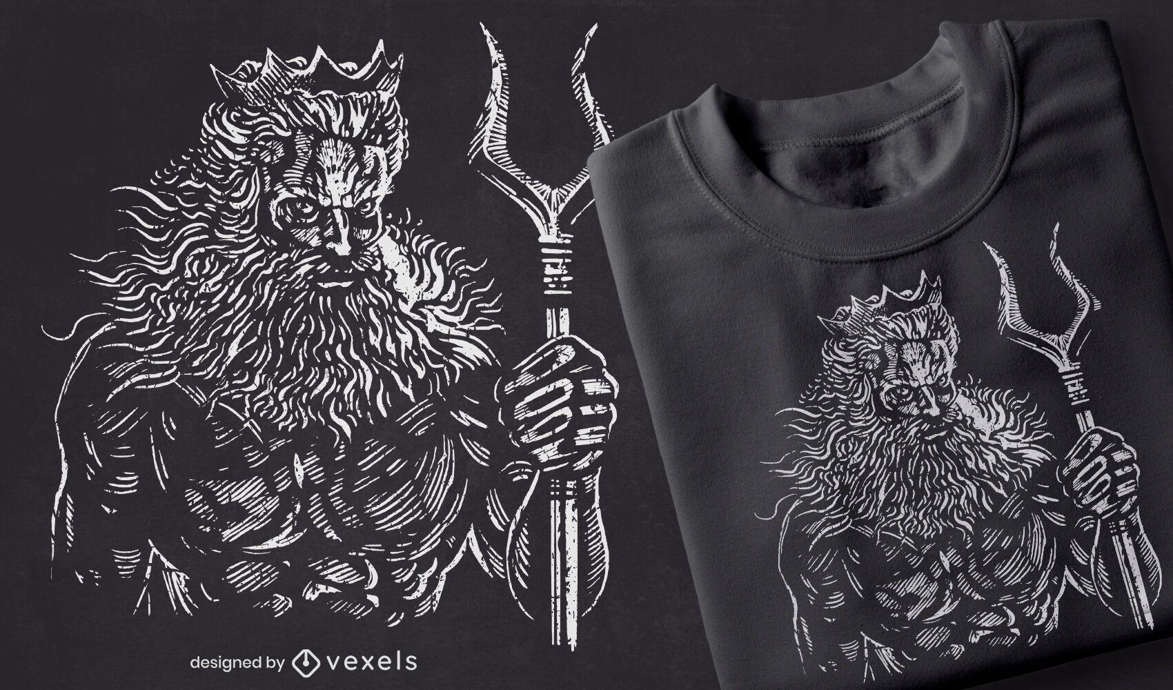 Hades hand-drawn t-shirt design