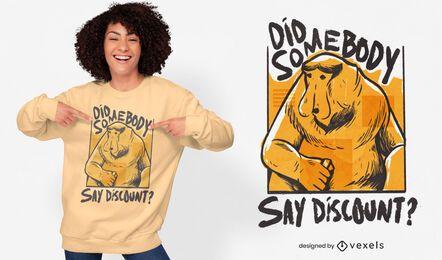 Desconto no design da camiseta do macaco