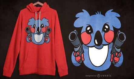 Diseño de camiseta Killer koala