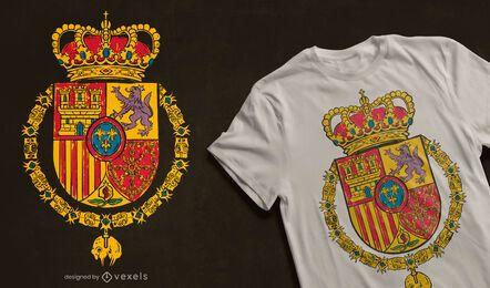 Design de camiseta Royal Standard da Espanha