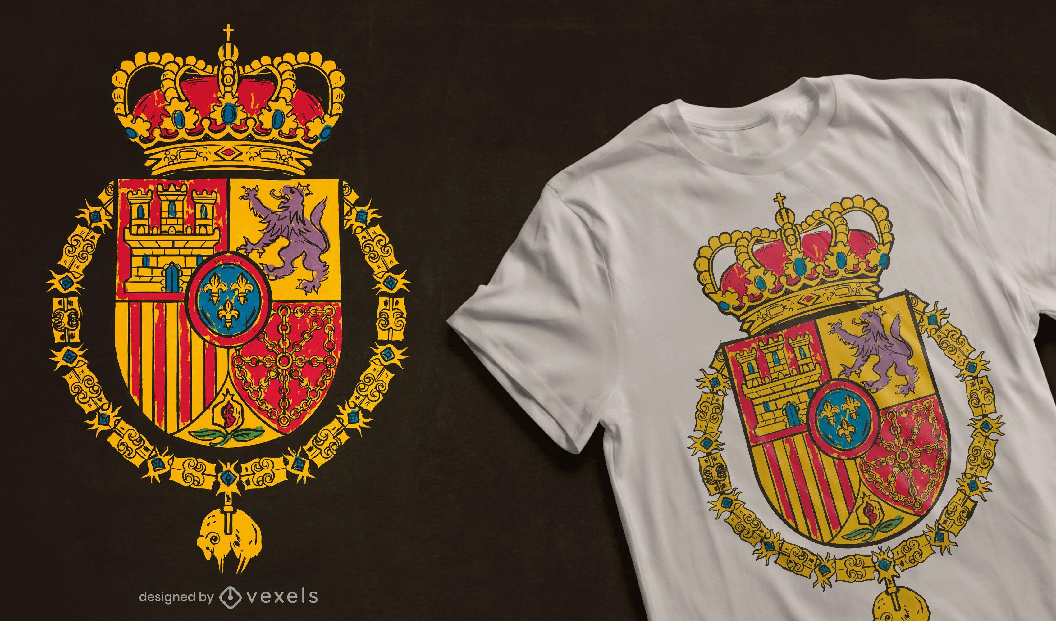 Spain Royal Standard t-shirt design